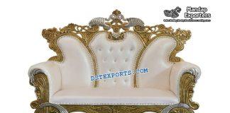 Designer Muslim Wedding Metal Carved Sofa
