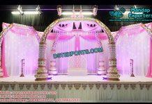 Ancient Trunk Pillars Wedding Mandap Set