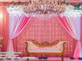 Glamorous Wedding Candle Backwall