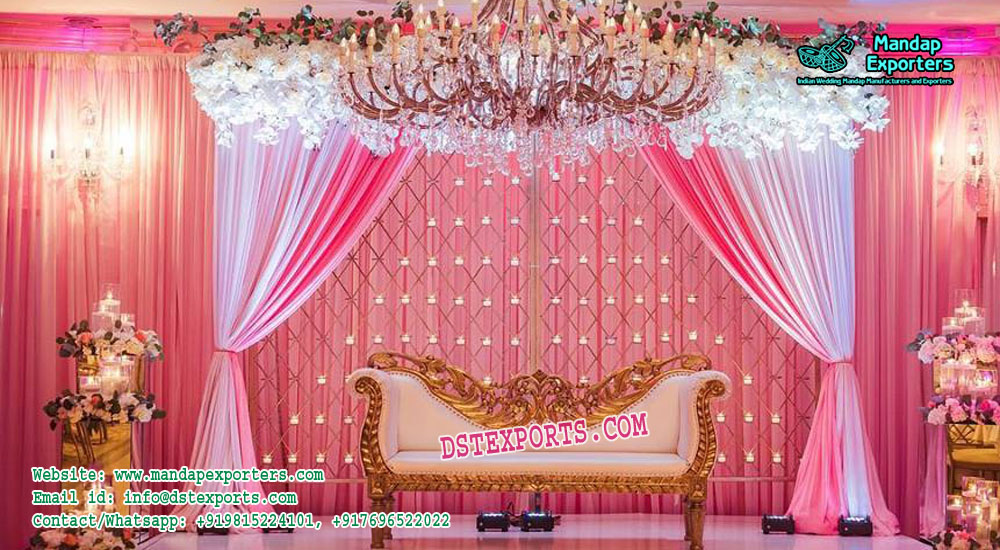 Glamorous Marriage Reception Candle Wall