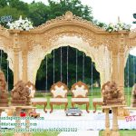 Gujrati Wedding Wooden Look Fiber Mandap