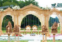 Gujrati Wedding Wooden Look Fiber Mandap