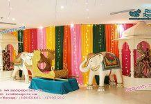 Hindu Wedding Entrance Stage Decoration