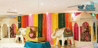 Hindu Wedding Entrance Stage Decoration