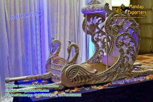 Indian Wedding Silver Peacock Palki