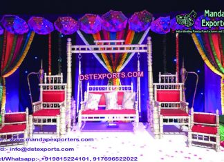 Indian Wedding Stage Swing with Chairs