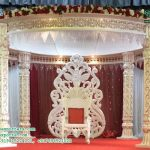 Indian Wedding White Pillar Fiber Mandap