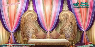 Low Back Sangeet Stage Sofa
