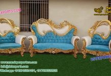 Luxurious Wedding Metal carved Furniture