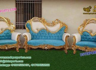 Luxurious Wedding Metal carved Furniture