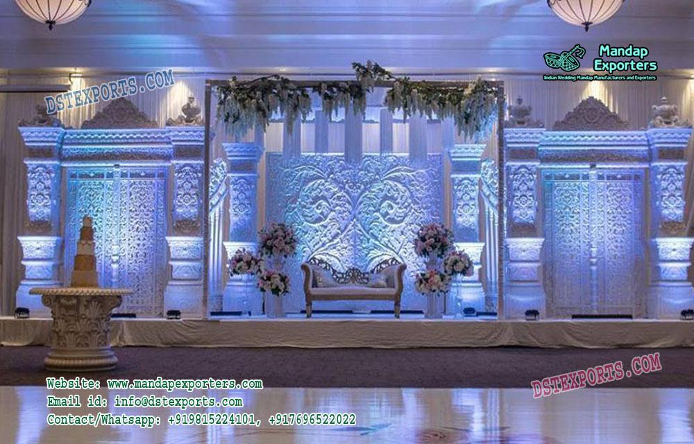 Majestic English Wedding Stage Decoration