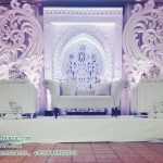 Marvelous Wedding Fiber Stage Decoration