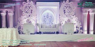 Marvelous Wedding Fiber Stage Decoration
