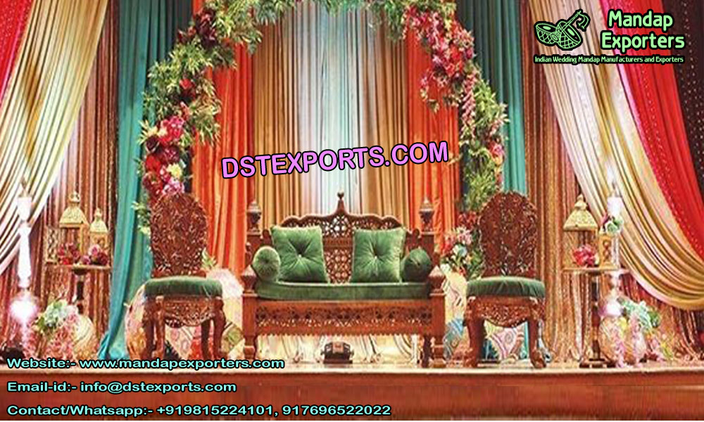 Royal Wedding Mehndi Stage Sofa