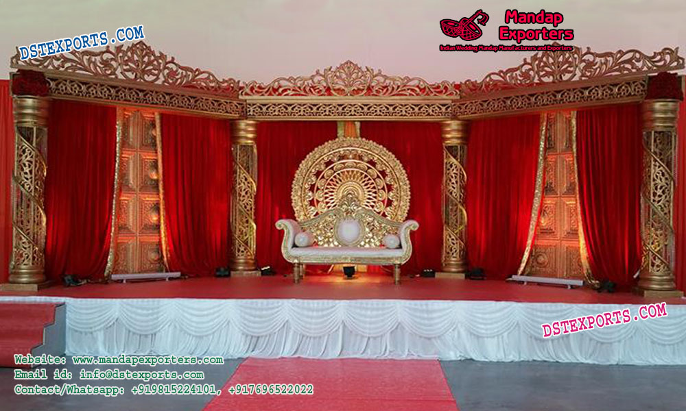 Precious Look Maharaja Wedding Stage
