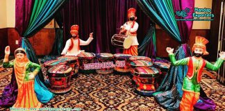 Punjabi Wedding Sangeet Stage Decoration