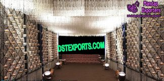 Dazzling Candle Walls for Walkway