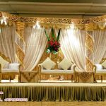 Splendid Wedding Crystal Fiber Stage Decoration