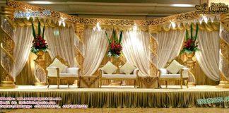 Splendid Wedding Crystal Fiber Stage Decoration
