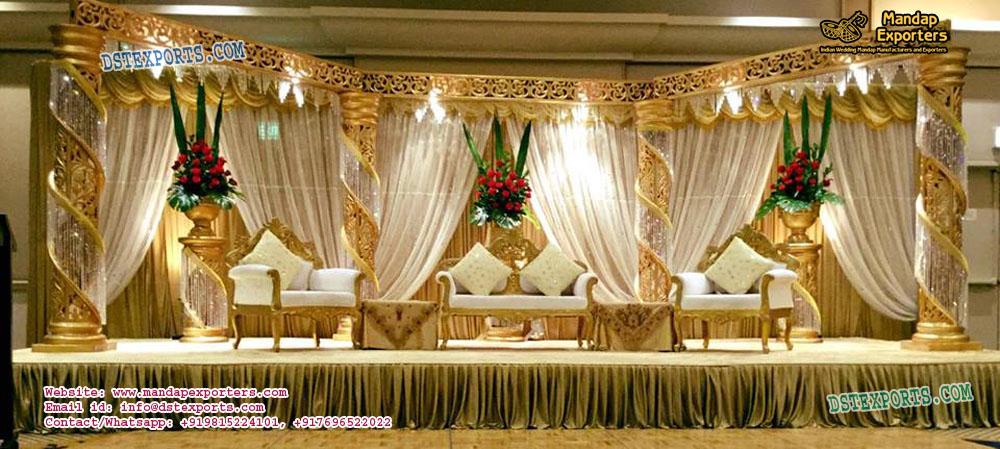 Splendid Wedding Crystal Fiber Stage Decoration – Mandap Exporters