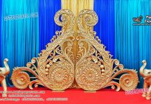 Stylish Wedding Backdrop Paisleys Panels