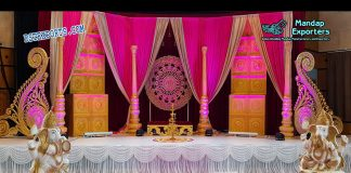Trendy South Indian Wedding Stage Set