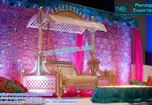 Wedding Mehandi Stage Swing with Hood