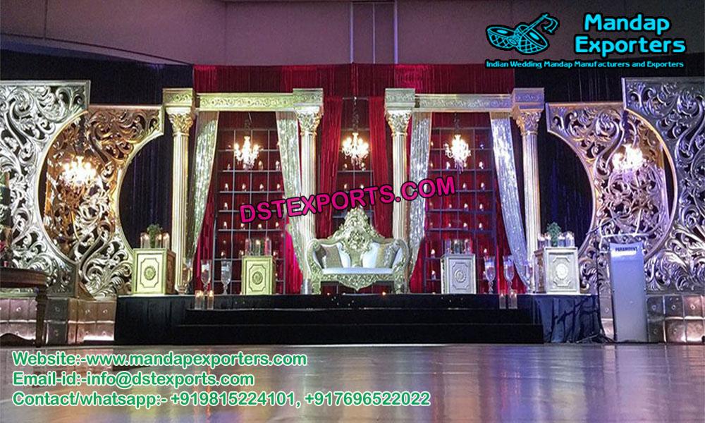 European Wedding Stage Panels Decoration