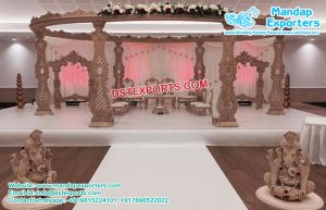 Wooden Carved Mandap for Hindu Wedding