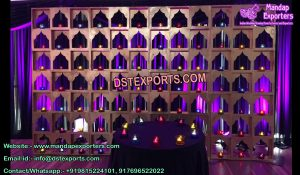 Arabian Wedding Stage Candle Walls