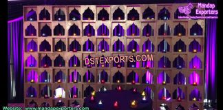Arabian Wedding Stage Candle Walls