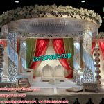 Spiral Crystal Pillar Wedding Mandap