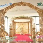 impressive Wedding Golden Fiber Mandap