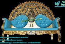 Luxurious Wedding Peacock Design Sofa