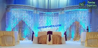 Gorgeous Crystal Palazzo Wedding Stage
