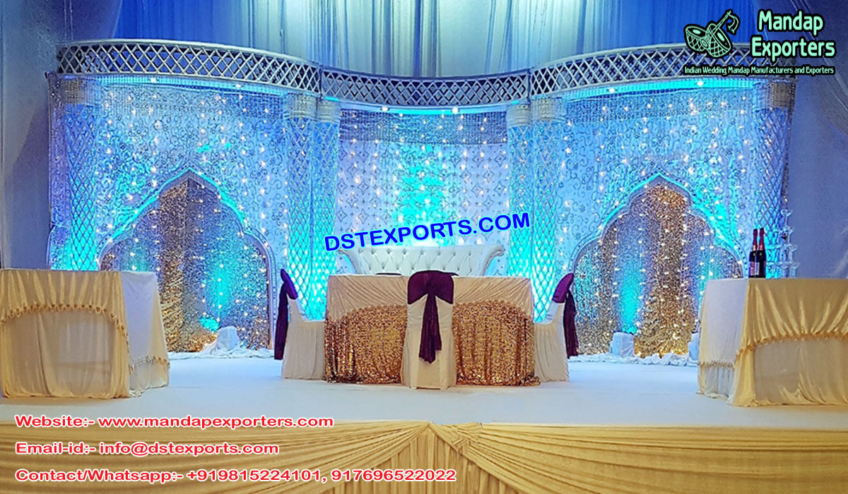 Gorgeous Crystal Palazzo Wedding Stage