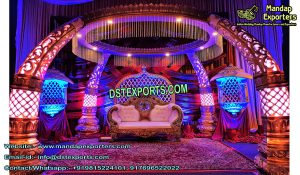 Indian Tusk Pillar Marriage Mandap