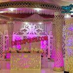 Diamond Cut Wedding Crystal Mandap