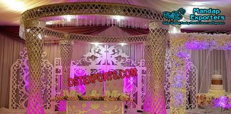 Diamond Cut Wedding Crystal Mandap