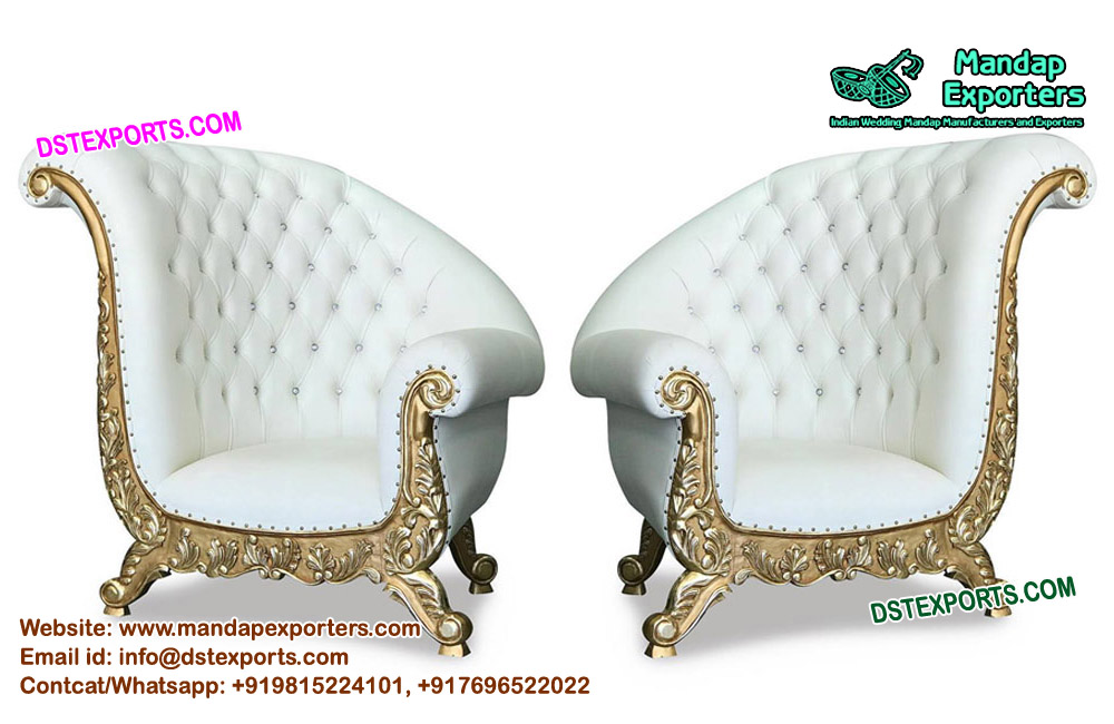 Remarkable Bride And Groom Wedding Sofa Chairs Mandap Exporters Bralicious Painted Fabric Chair Ideas Braliciousco