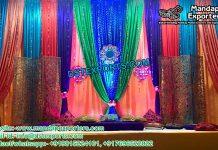 Stylish Mehandi Stage Backdrop Curtains