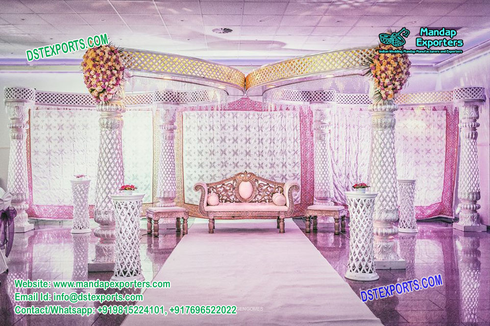 Dazzling Wedding Reception Mandap Decoration Mandap Exporters