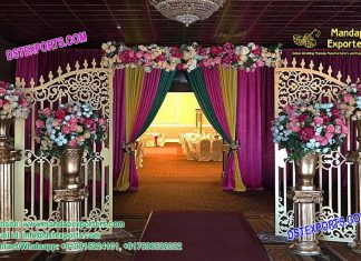 Elegant Wedding Entrance Decoration