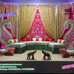 Graceful Mehndi Stage Backdrop Curtains