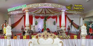 Indian Wedding Fiber Lotus Mandap