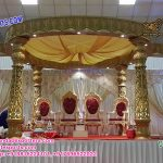 Indian Wedding Marvelous Golden Carved Mandap
