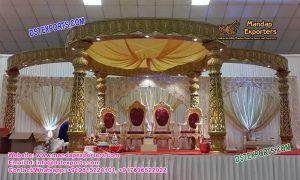 Indian Wedding Marvelous Golden Carved Mandap