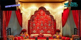 Indian Wedding Sangeet Stage Backdrops
