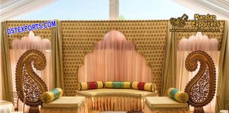 Indian Wedding Stage Backdrop Decoration
