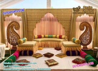 Indian Wedding Stage Backdrop Decoration